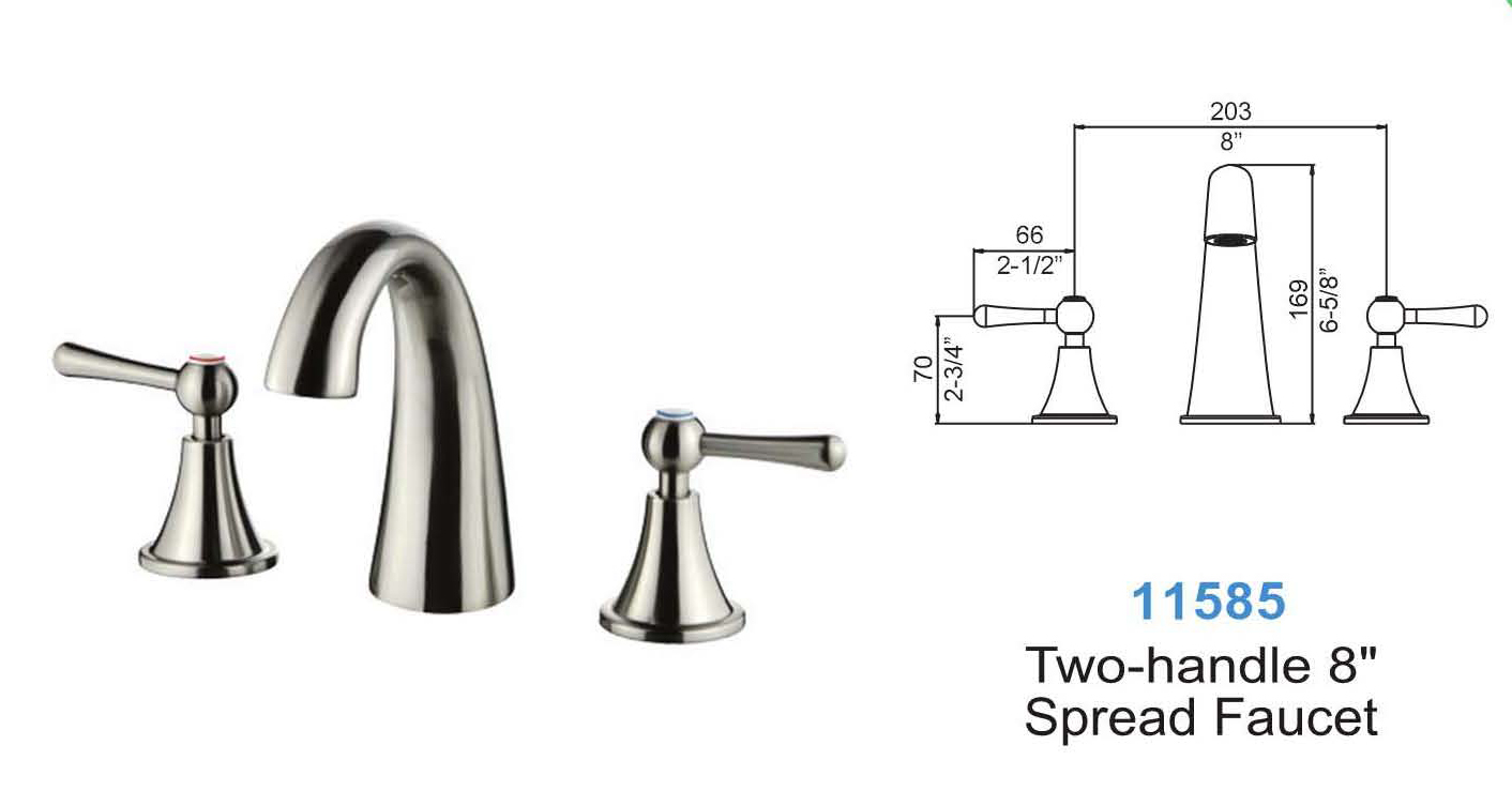 Brushed Nickel Lavatory Faucet With Two Handles #11585