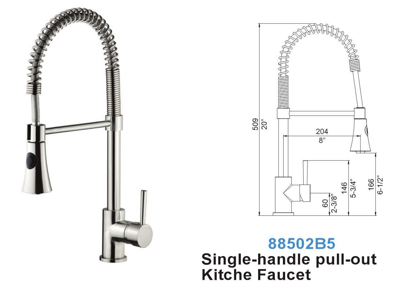single p pro spout spring in with sprayer trinsic delta faucets chrome kitchen technology pull dst and down faucet handle