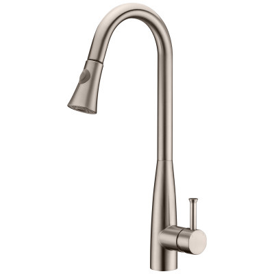 brushed nickel kitchen faucet with single handle